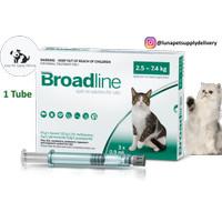 Obat Kutu, Pinjal, Scabies dan Cacing Kucing Broadline L 2,5 kg-7,5 kg