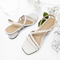 Sandal Heels hak Tahu Bilqis_Collection SDL018WHT Terbaru..!!!! - 37
