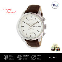 Jam Tangan Pria Branded Fossil FS-4865 Townsman Chronograph Leather