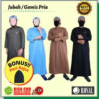 Jubah basic Rosal | Jubah bahan Toyobo baju muslim Gamis pria