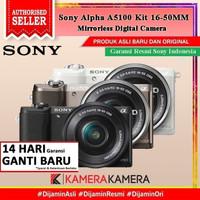 SONY ALPHA A5100 / Sony 5100 KIT 16-50MM Kamera Mirrorless - RESMI - Hitam