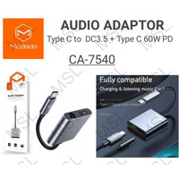 Mcdodo Adapter Audio Konverter Headset Type C to Type C + 3.5 CA-7540