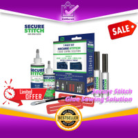 SECURE STITCH Liquid Glue Sewing Solution Set Kit - Lem Jahit 0664