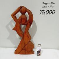 patung kayu love3 dekorasi ukir hiasan home decor homedecor