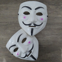 topeng hacker anak dewasa vendetta anonymous standar putih