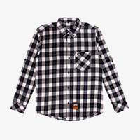 Geoff Max Official - Freecs Black Square White   Kemeja   Flannel