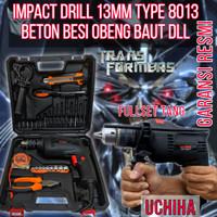 mesin bor 13mm impact drill full set tang 35pcs koper uchiha