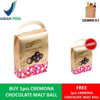 Cremona Chocolate Malt Ball / Cokelat Compound Putih (gift box) 100gr