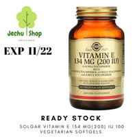 [READY STOCK] SOLGAR VITAMIN E 134 MG(200) IU 100 VEGETARIAN SOFTGELS