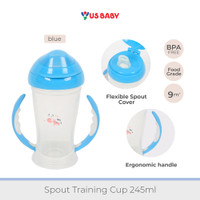 US Baby Spout Training Cup 245ml - Blue