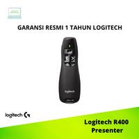 Laser Pointer Wireless Presenter Logitech R400 ORIGINAL - Hitam