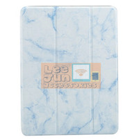 New iPad 2017 9.7 Gen-5 iPad 5 3 Fold Marble Smart Case/Cover w.Holder