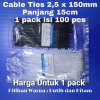 Kabel ties 15cm / Cable tie 15cm / Cable ties 3 x 150mm (panjang 15cm)