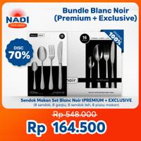 PROMO! Sendok Makan Set Blanc Noir Premium + Exclusive 32 psc