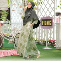 Baju Gamis Wanita Syari Chiriz Dress By Kaisya - Matcha, M