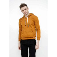 Jaket Polos Jumper Hoodie Sweater Warna Mustard