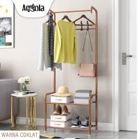 Angola Rak Gantungan Baju D23 Stand Hanger Jemuran Tempat Tas/Sepatu