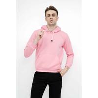 Jaket Polos Jumper Hoodie Sweater Warna merah muda terang