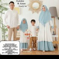 couple Gamis habibi & Ainun /Gamis family set Baju Muslim Free hijab