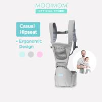 MOOIMOM Casual Hipseat Carrier Gendongan Bayi - 3 - 36 Bulan, Merah Muda