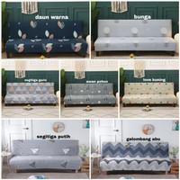 cover sofa bed motif elastis / penutup sofa size L