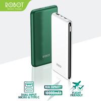 POWERBANK ROBOT RT180 10000MAH ORIGINAL DUAL INPUT TYPE C MICRO USB