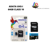 ADATA UHS-I MicroSD Memory Card with Adapter [64 GB/Class 10]