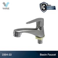 VONE 2304-22 Keran Kran Air Basin Desk Wastafel Kamar Mandi Stainless