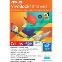 LAPTOP ASUS A412UA - INTEL PENTIUM 4417U DDR4 4GB SSD 512GB 14 WIN10