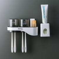 Rak Plastik Minimalis Dinding Toilet Gantungan SikatGigi 3 Tipe TBH001