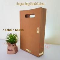 Paper Bag Kraft Plong Custom Print / Paper Bag Sablon / 16x5x26