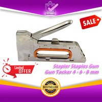 Stapler Staples GunTembak Jok Kulit Motor / Gun Tacker 4-6-8mm 0668