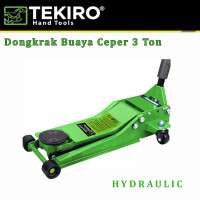 Dongkrak Buaya 3 Ton Ceper / Hydraulic Jack Double Pump TEKIRO