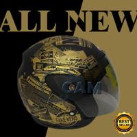 Helm evolution koran black doff gold