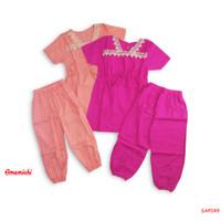 Setelan Anak Perempuan Tunik Rayon Anak 2-6 Tahun/Setelan Rayon Anak