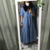 Pandora Dress Long Dress - Biru Muda