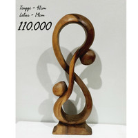 patung kayu kiss dekorasi ukir hiasan home decor homedecor