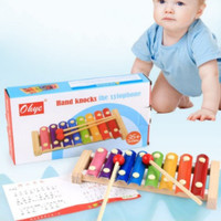MAINAN ANGKLUNG Alat Musik Xylophone Angklung Oktaf 2 Stik Untuk Anak