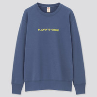 UNIQLO SWEATER MICKEY MOUSE x KEITH HARING SWEATSHIRT OUTERWEAR BLUE