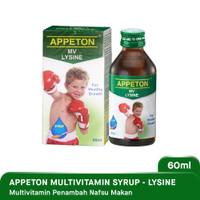 Appeton With Lysine Syirup Multivitamin 60ml