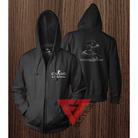 Jaket Sweater Hoodie Zipper Counter Strike Global CS GO - FIFTY CLOTHI - Putih, XS
