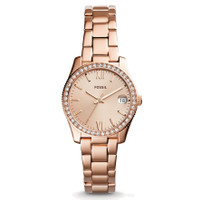 Fossil Scarlette Three-Hand Date Rose Gold-Tone Stainless Steel ES4318