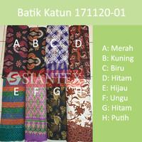 Bahan Kain Batik Katun Cotton Indonesia Print Meteran Atasan Bawahan