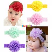 Bandana Bayi Hiasan Bunga Sifon / Baby Headband / Bando Bayi/Aksesoris