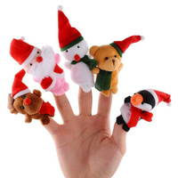 Mainan Anak Set Boneka Jari Natal / Xmas Christmas Finger Puppet
