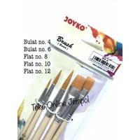 isi 5 Kuas Set JOYKO BR-8 Brush Cat Acrylic Air Minyak Lukis ATK1135JY