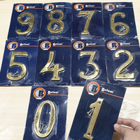 Nomor Rumah Angka Gold 10 cm Beloni