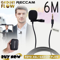 Microphone Mic Clip On 6 METER 3.5mm TRRS 4 Pole Smartphone HP