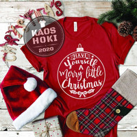 BAJU KAOS T-SHIRT PRIA WANITA EDISI NATAL/CHRISTMAS HAVE YOURSELF a ME