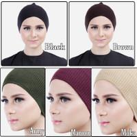 Ciput Inner Rajut Polos Bandanan Dalaman Hijab Nyaman Tidak Panas